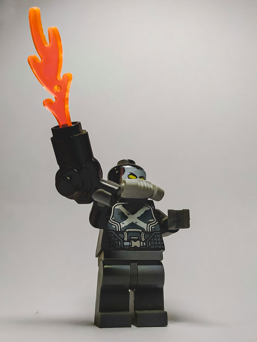 Angry Lego Toy With a Gun