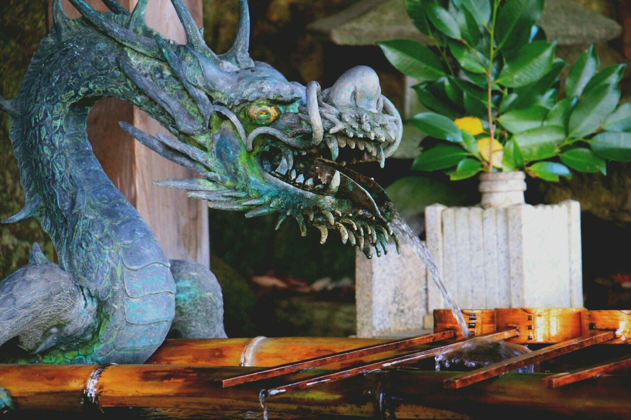 Japanese Dragon Fountain